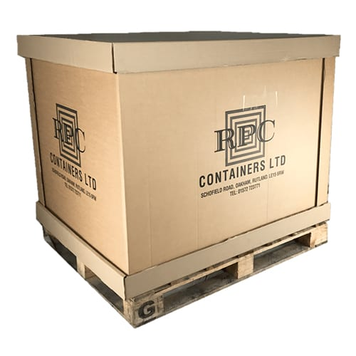 Used Double Wall Cap and Sleeve Pallet Boxes
