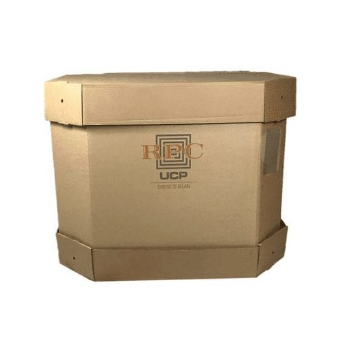 Used Printed Cap and Sleeve Pallet Boxes