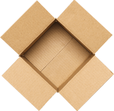 Cardboard boxes from Reuseabox