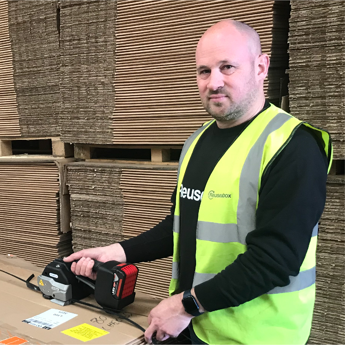 Mark warehouse operative at Reuseabox