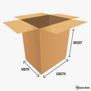 How to measure a cardboard box